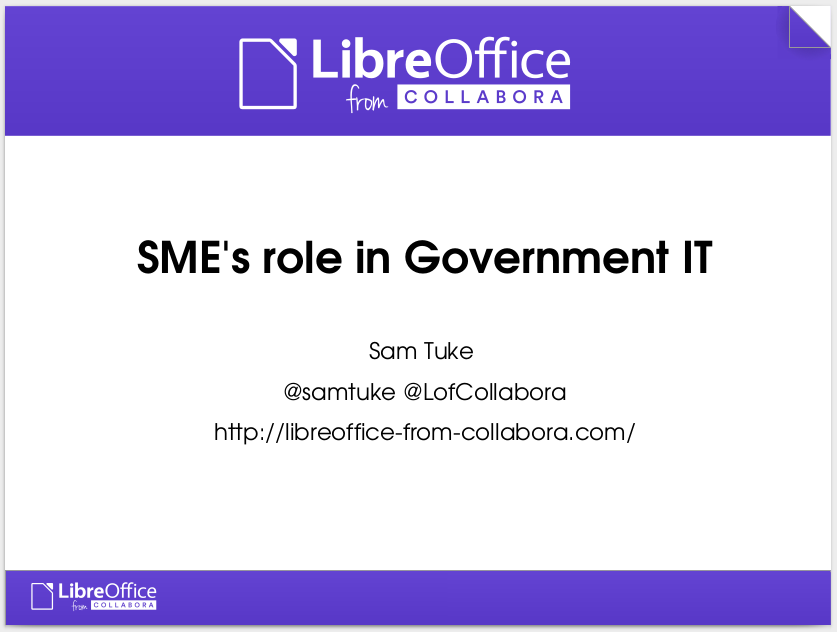 My presentation on SMEs role in UK Government