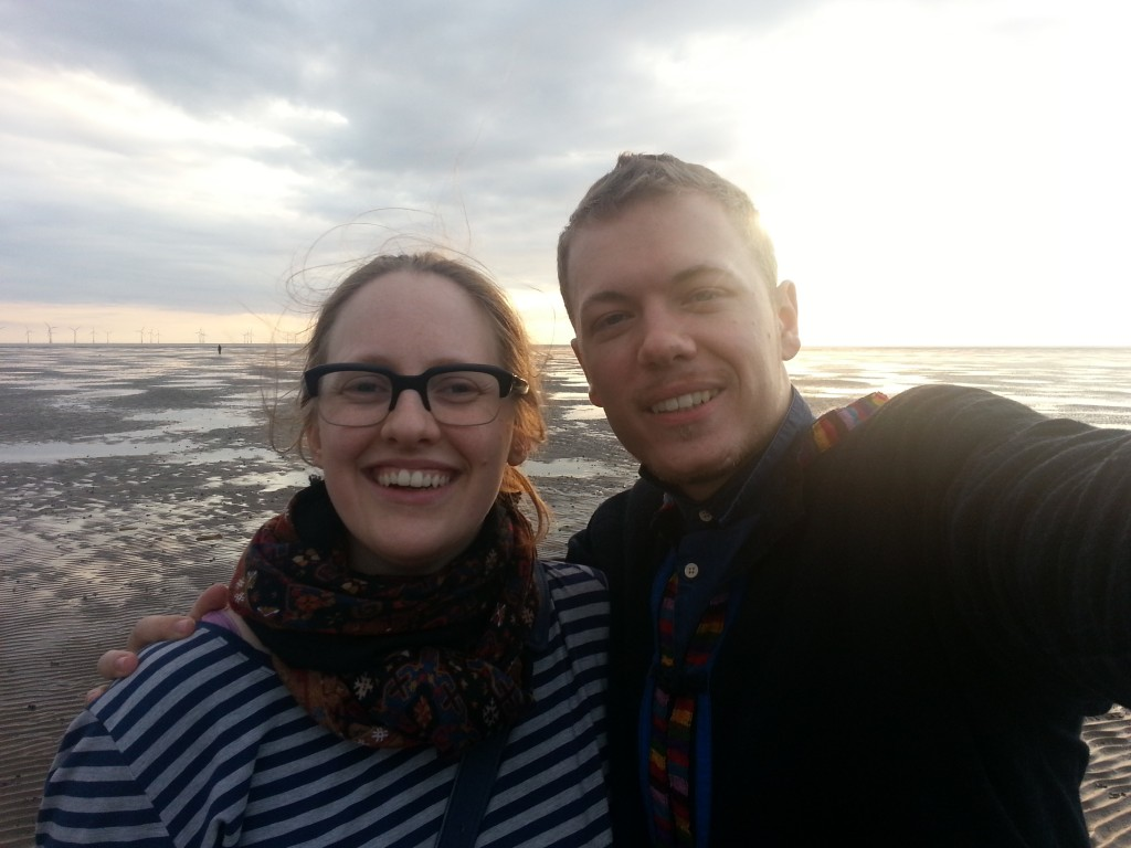 Anna Morris, phpList Community Manager, and I on Corby Beach during a visit in 2014
