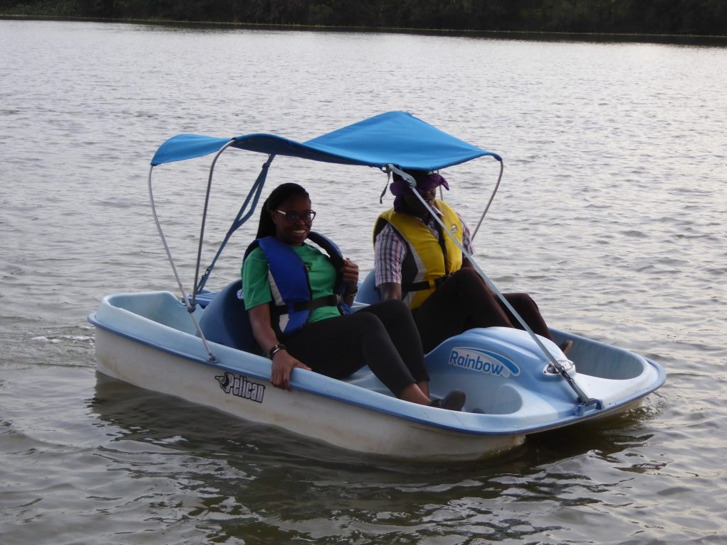 Pedillo boat team-building in Accra, Ghana