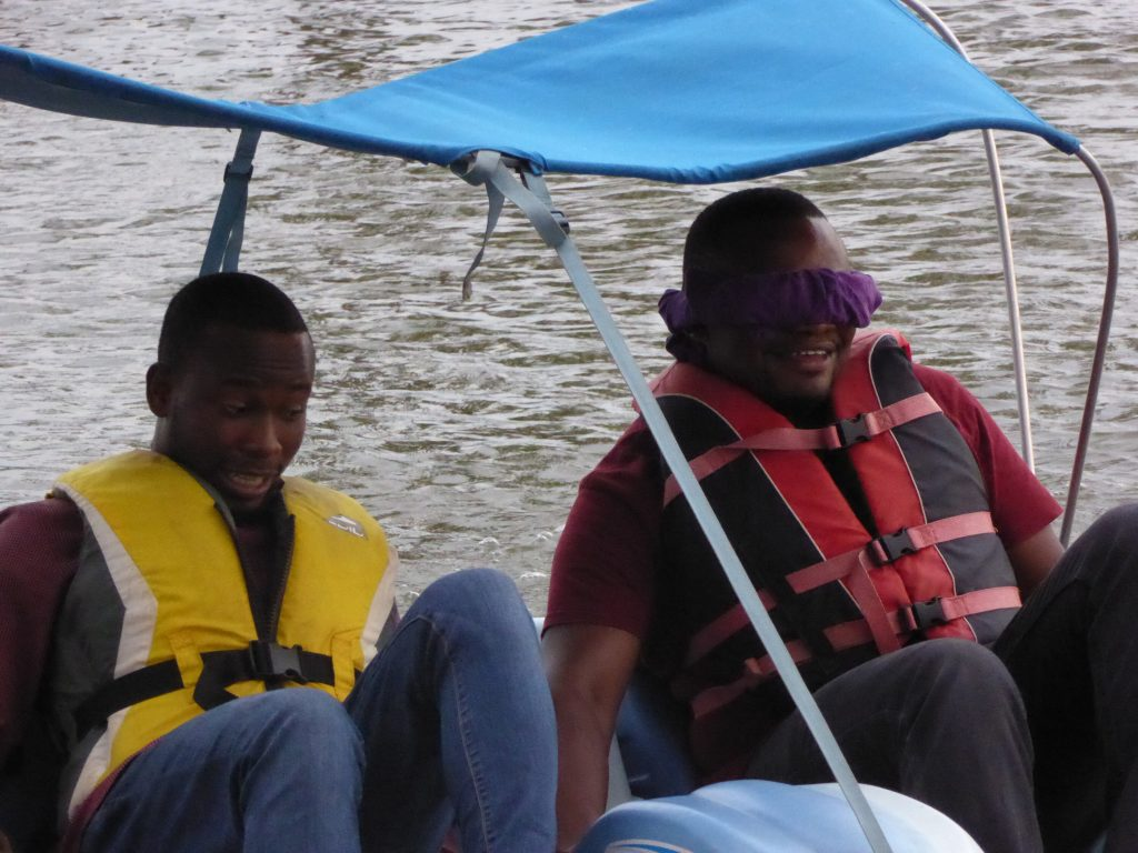 Pedillo boat team-building in Accra, Ghana